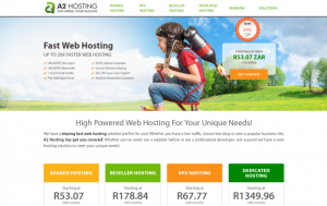 A screenshot of A2 Hosting Home Screen. Our best hosting company